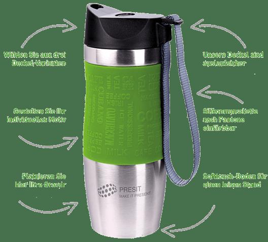PRESIT Mug - Coffee 2 Go Becher individualisieren und selbst gestalten