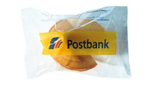Kekse mit Logo: Glückskekse mit transparenter Verpackung & Spruchzettel