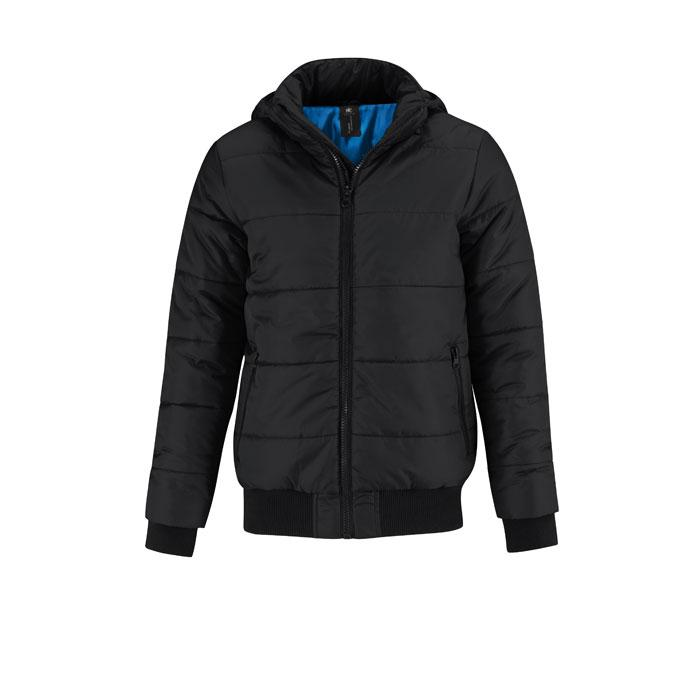 Herren Winterjacke 325 g/m SUPERHOOD MEN JM940 - Black/Black Opal - Jacken