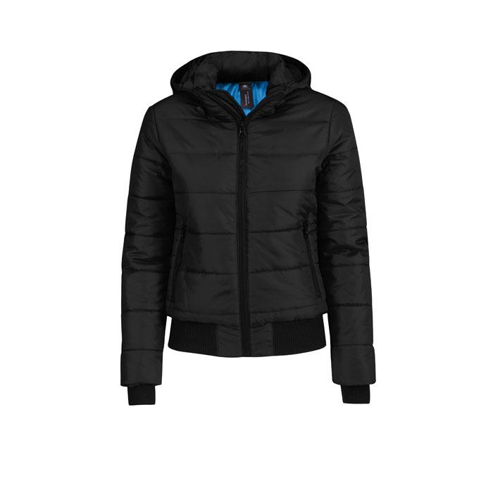 Damen Winterjacke 325 g/m2 SUPERHOOD WOMEN JW941 - Black/Black Opal - Jacken