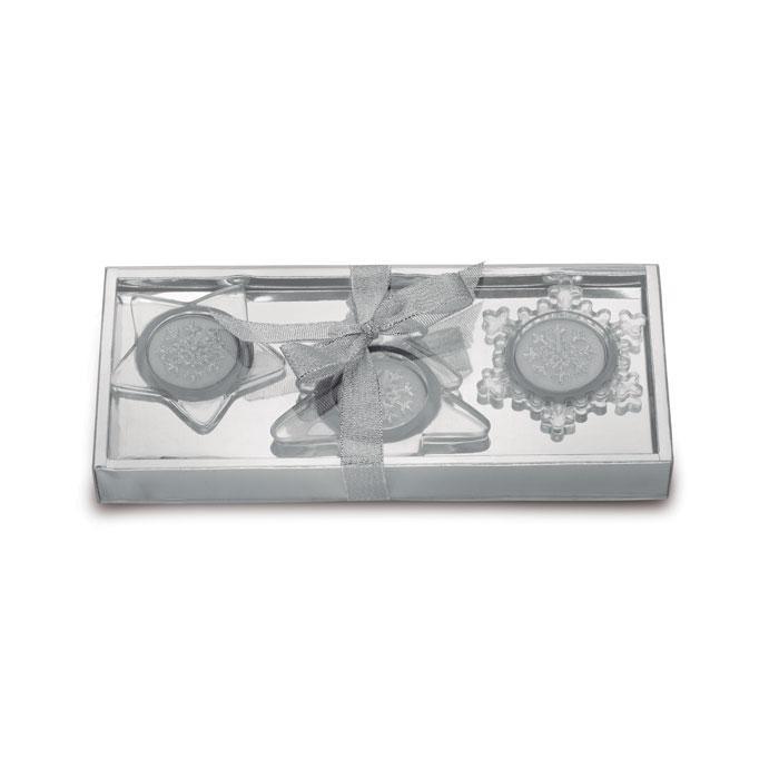 Set Teelichthalter GLASSIO - Weihnachtsdekoration