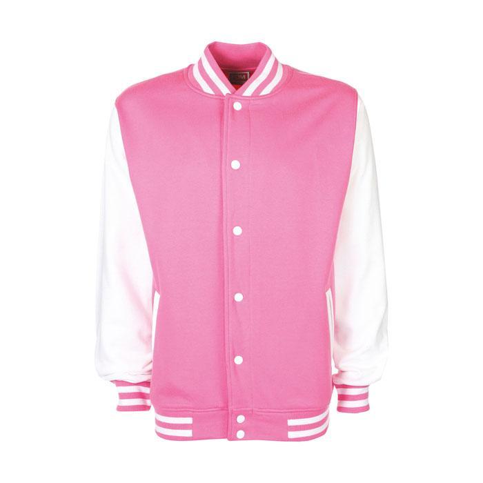 Unisex Sweatshirt 300 g/m2 VARSITY JACKET FV001 - Azalea - Jacken