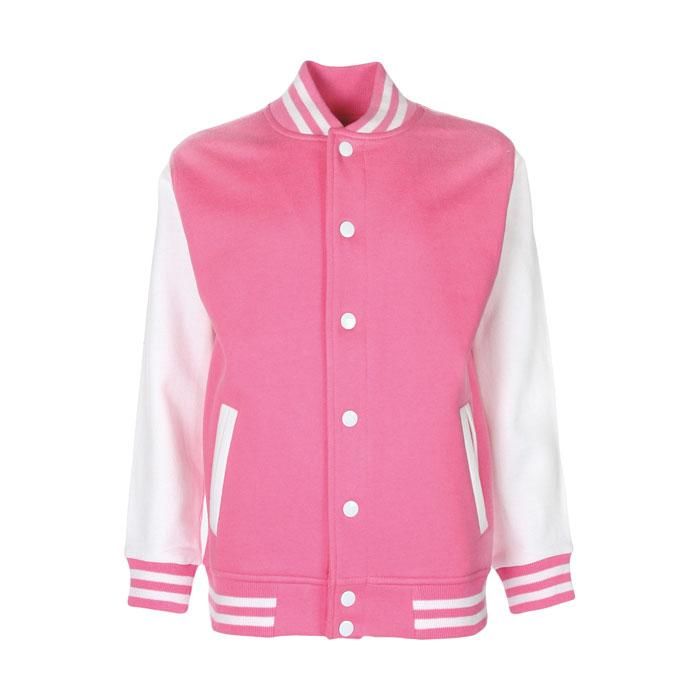 Kinder Sweatshirt 300 g/m2 JUNIOR VARSITY JACKET FV002 - Azalea - Jacken