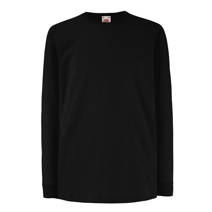 Kinder T-Shirt 165 g/m² KIDS LS VALUE WEIGHT 61-007-0 - Black/Black Opal - T-Shirts
