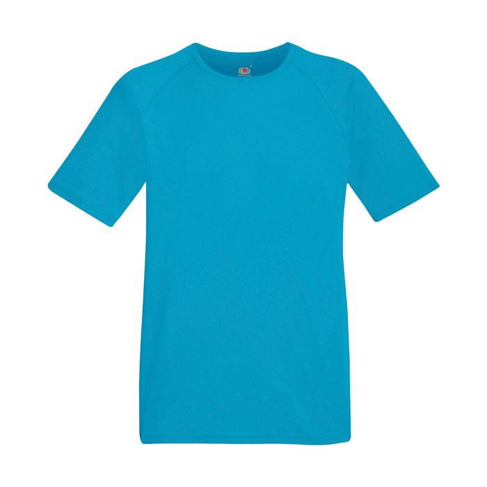 Herren T-Shirt Sport PERFORMANCE T-SHIRT 61-390-0 - Azure Blue - T-Shirts