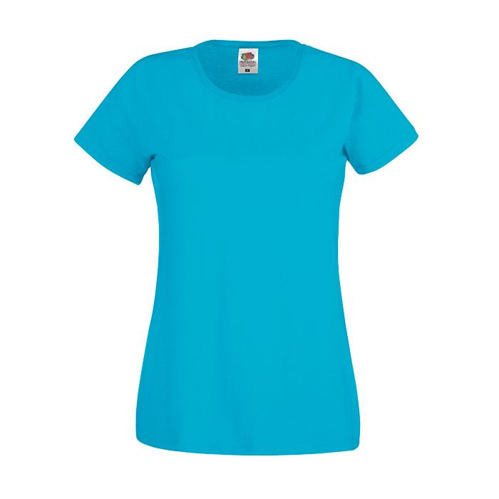Damen T-Shirt 135/145 g/m2 LADY-FIT ORIGINAL TEE 61-420-0 - Azure Blue - T-Shirts