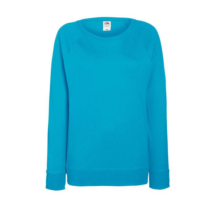 Damen Sweatshirt 240 g/m2 LADY-FIT LIGHT RAGLAN 62-146-0 - Azure Blue - Pullover