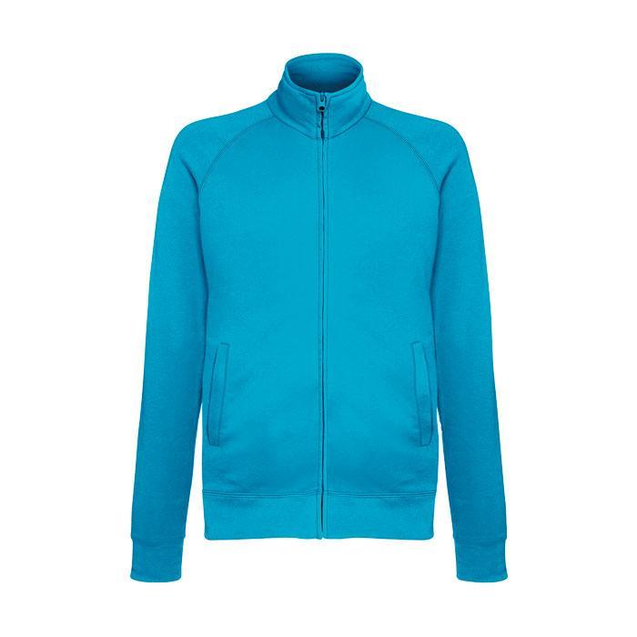 Unisex Sweatshirt 240 g/m2 LIGHTWEIGHT JACKET 62-160-0 - Azure Blue - Sweatjacken