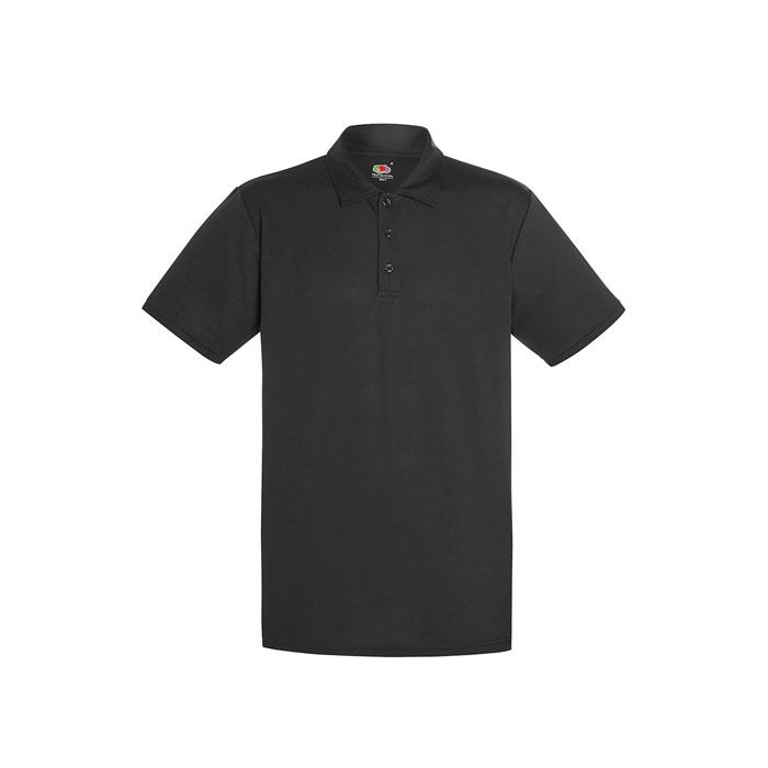 Herren Polo Shirt Sport PERFORMANCE POLO 63-038-0 - Black/Black Opal - Poloshirts