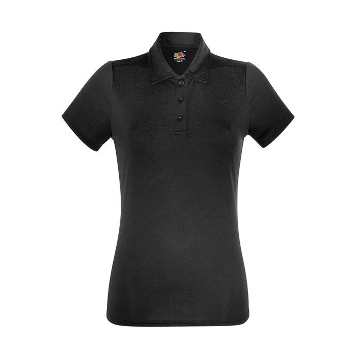 Damen Polo Shirt Sport LADY-FIT POLO 63-040-0 - Black/Black Opal - Poloshirts