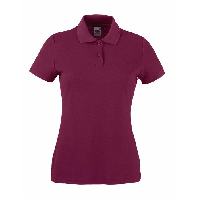 Damen Polo Shirt 170/180 g/m 65/35 POLO LADY-FIT  63-212-0 - Burgundy - Poloshirts