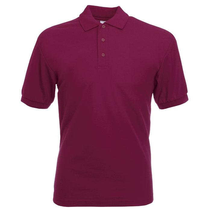 Herren Polo Shirt 170/180 65/35 BLENDED POLO 63-402-0 - Burgundy - Poloshirts