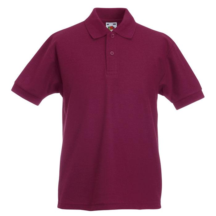Kinder Polo Shirt 170/180 g/ 65/35 KIDS POLO 63-417-0 - Burgundy - Poloshirts