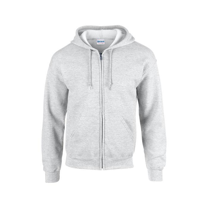 Herren Sweatshirt 255/270 g/ FULL ZIP HOODED SWEAT 18600 - Ash - Sweatjacken