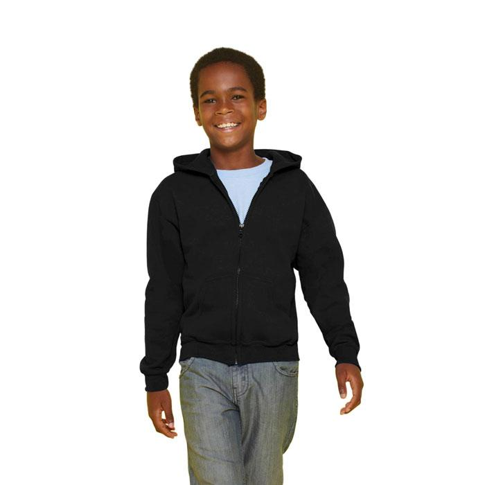 Kinder Sweatshirt 255/270 g/ KIDS FULL ZIP HOODED SW 18600B - Black/Black Opal - Sweatjacken