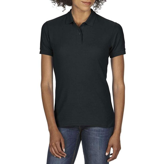 Damen Polo Shirt 207/220 g/m DRYBLEND LADIES PIQUE 75800L - Black/Black Opal - Poloshirts