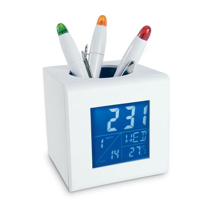 Stiftehalter mit Uhr CUBO - Schreibtisch-Organizer