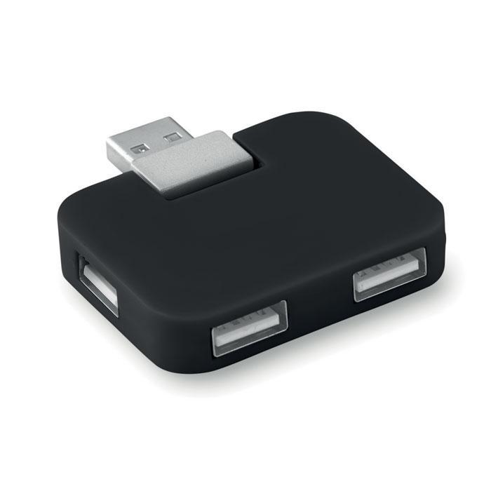 4 Port USB Hub SQUARE - USB-Hubs