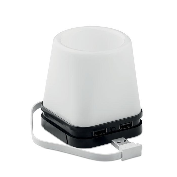 Stifthalter mit Licht/USB Hub FUJI - USB-Gadgets