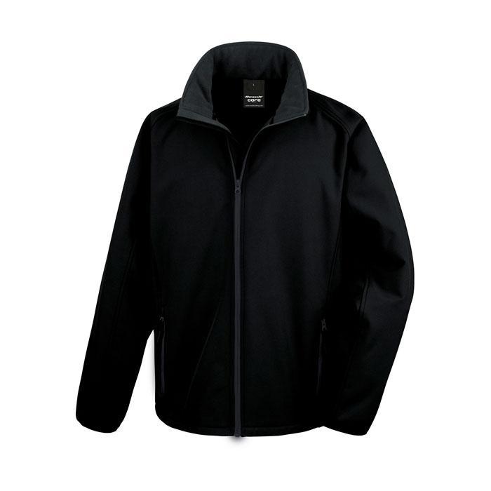 Herren Soft Shell 280 g/m2 SOFT SHELL JACKET R231M - Black/Black Opal - Jacken