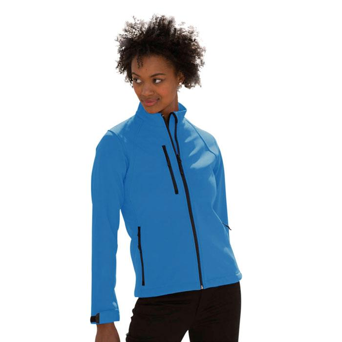 Damen Soft Shell 340 g/m2 LADIES SOFT SHELL R-140F-0 - Azure - Jacken