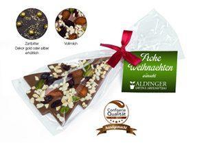 Schokolade bedrucken in verschiedenen Verpackungen und Geschmacksrichtungen