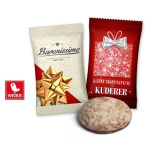 Werbeartikel Weihnachtsbäckerei - Weihnachtsgebäck mit Logo bedrucken lassen.