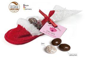 Weihnachtssüßigkeiten mit Logo bedrucken lassen