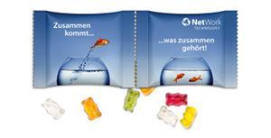 Werbeartikel Fruchtgummi in Doppelpackung