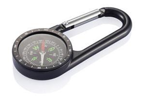 Werbeartikel-Kompass mit Gravur und Karabiner-Haken