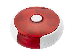 Werbeartikel-Pillendose als im Karusellform für Tabletten