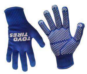 Handschuhe mit Logo blau