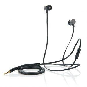 Flachkabel Ohrhörer mit Mikrofon