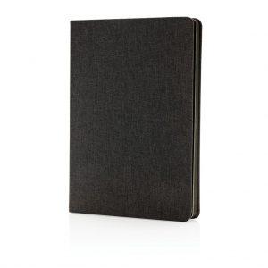 Stoff-Notizbuch mit schwarzem Seitentrenner