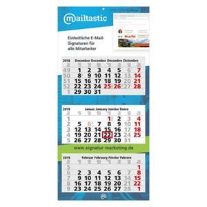 3-Monatskalender mit Logo bedrucken lassen im PRESIT Online-Shop
