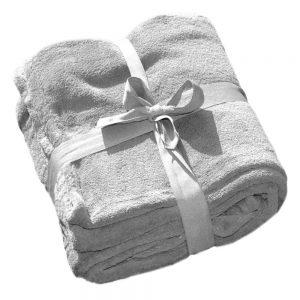 Coral-Fleece-Decke als Werbeartikel besticken lassen - grau