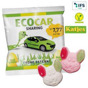 Katjes Veggie Grün-Ohr-Hase - Süße Werbeartikel mit Logo bedrucken