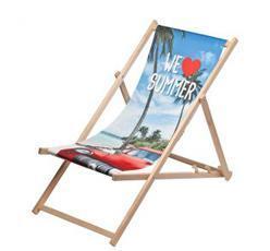 Liegestühle als Werbeartikel bedrucken