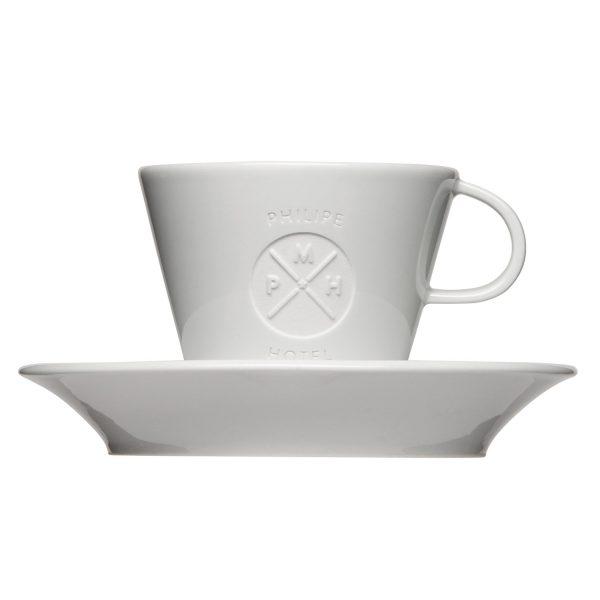 Mahlwerck Kaffeeteasse Form 701 - Mit Logo-Gravur und Untertasse