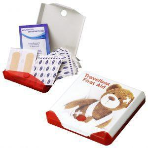 Pflaster mit Logo bedrucken im PRESIT Werbemittel Online-Shop - Boxen mit verschiedenen Pflastern