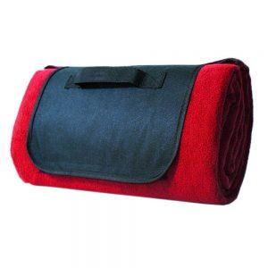 Picknick-Decke 150 x 130 cm in Rot als Werbeartikel mit Logo bedrucken