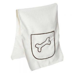 Tierhandtuch mit Taschen für die Hände, gesticktem Knochenmotiv, Werbeartikel mit Logo bedrucken und besticken lassen