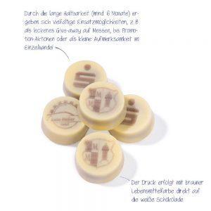 Lose Nougatpraline als Werbegeschenk mit Logo bedrucken