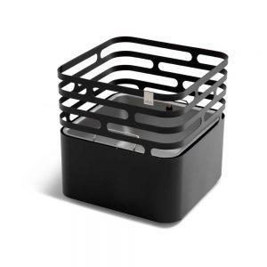 Cube Feuerkorb in Schwarz als Werbemittel mit Firmenlogo gestalten
