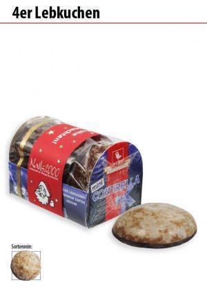 Werbeartikel 4er Lebkuchen  (Saisonprodukt)