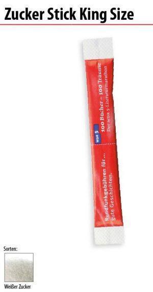 Werbeartikel Zucker Stick King Size