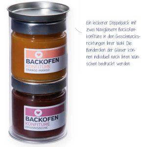 2 Maxi-Gläser Backofenkonfitüre-Set – ein leckerer Doppelpack mit zwei Maxigläsern