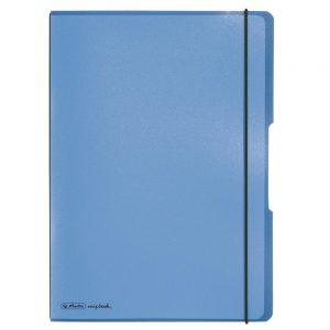 herlitz my.book flex DIN A 4 PP Kunststoff 2 x 40 blau/schwarz  als Werbeartikel mit Logo bedrucken im PRESIT Online-Shop