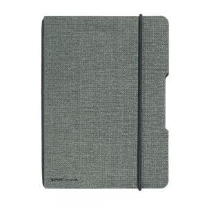 herlitz my.book flex DIN A 4 Leinenoptik grau/schwarz  als Werbeartikel mit Logo bedrucken im PRESIT Online-Shop