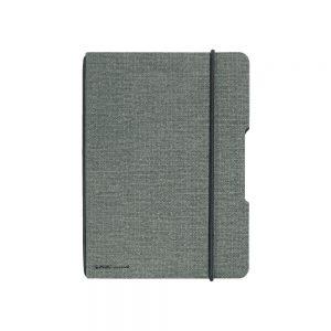 herlitz my.book flex DIN A 5 Leinenoptik grau/schwarz  als Werbeartikel mit Logo bedrucken im PRESIT Online-Shop